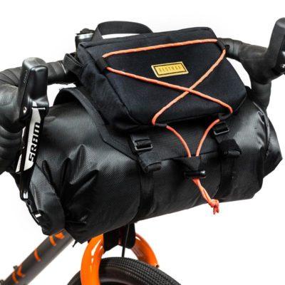 Restrap bikepacking handlebar bag (holster + dry bag)