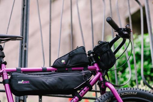 Bikepacking top tube bag Miss Grape Node