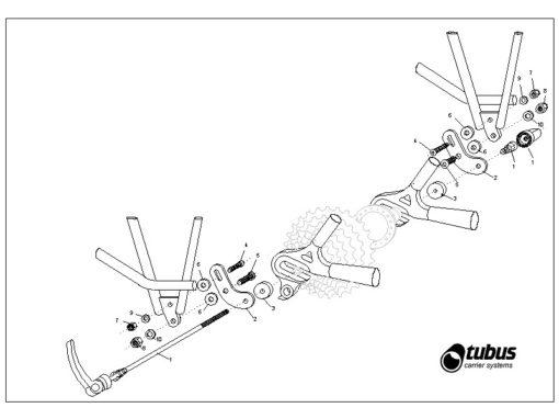 Kit Tubus de fixation QR pour porte-bagages arrière